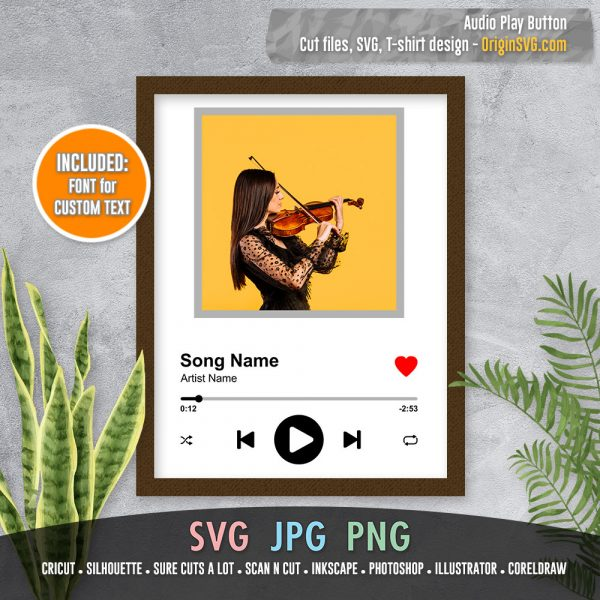 audio player control button SVG