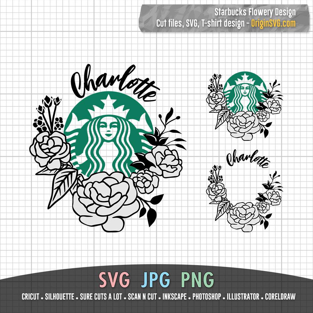 Download Starbucks Flowery Design with Custom Name Flower Hand ...