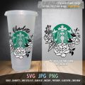 Starbucks-flowery-design