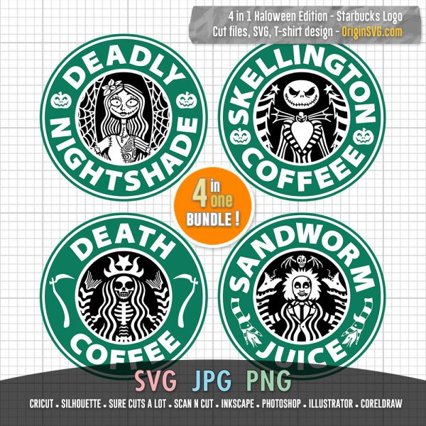 jack skellington starbucks logo