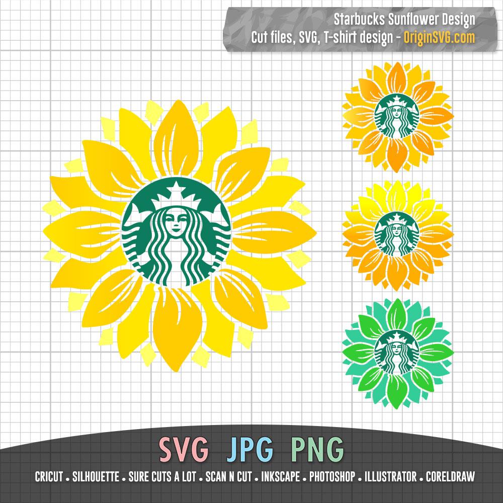 Download Starbucks Sunflower Design Starbucks - Origin SVG Art