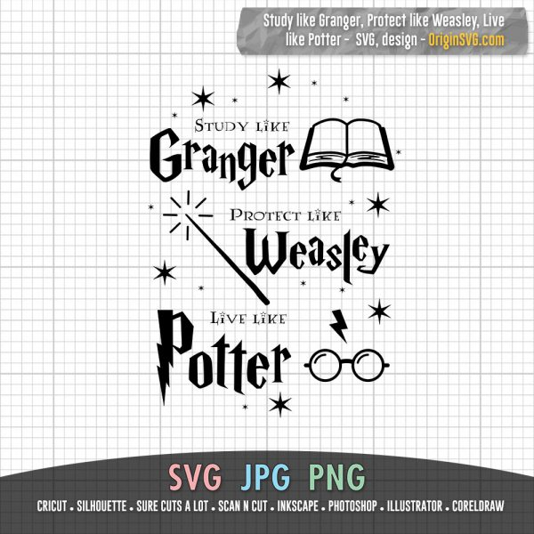 Study like Granger, protect like Weasley, live like Potter