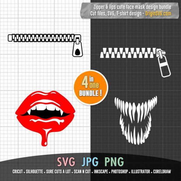 zipper face mask design
