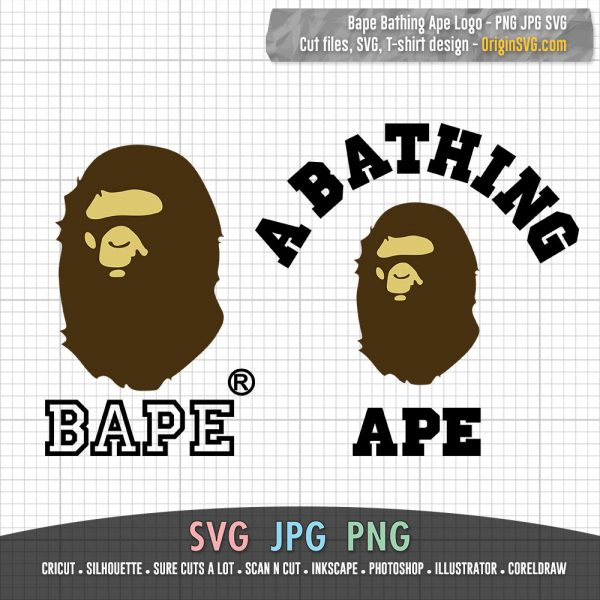 A Bathing Ape Logo Bape Logo Monkey Head SVG Cut File