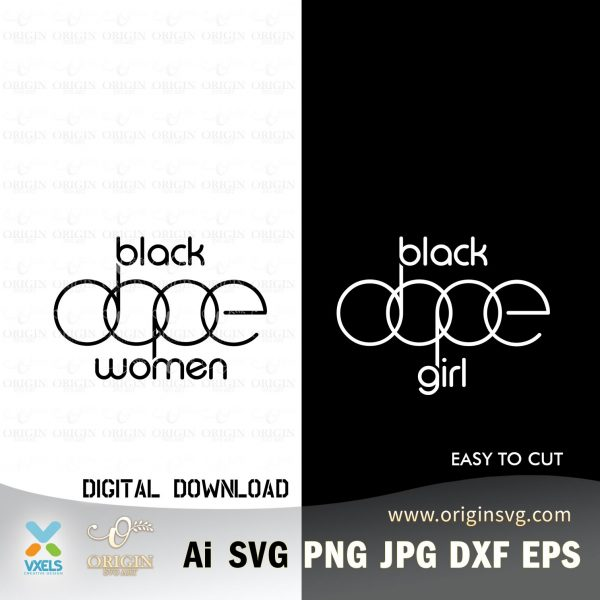 dope black girl svg
