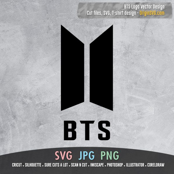 BTS logo vector SVG printable