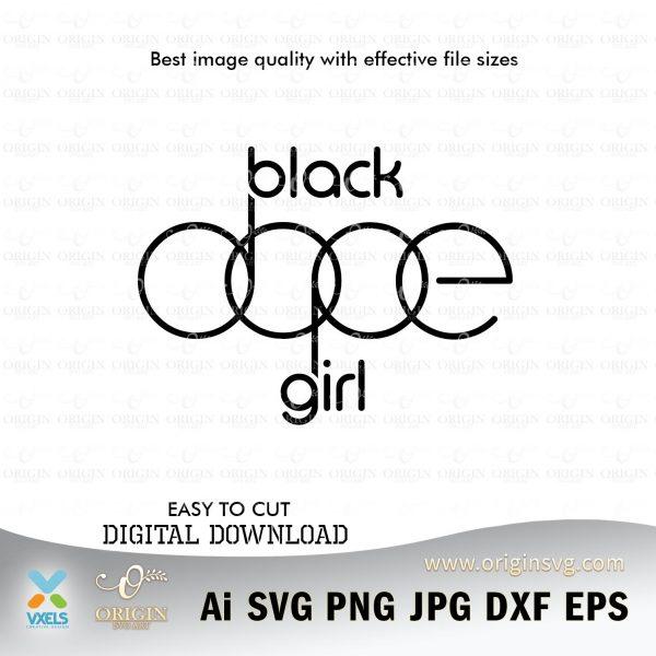 black girl dope design