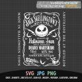 Jack Skellington Bottle Label Jack Daniel's SVG