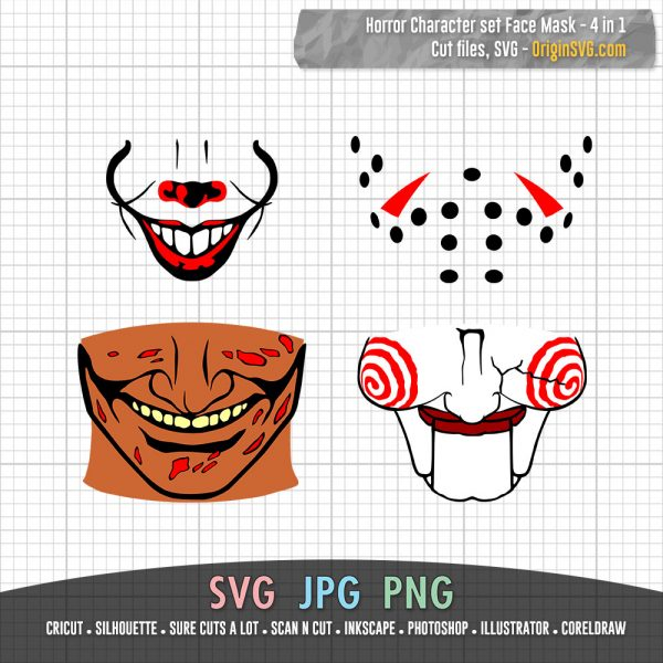 Horror Character Face Mask