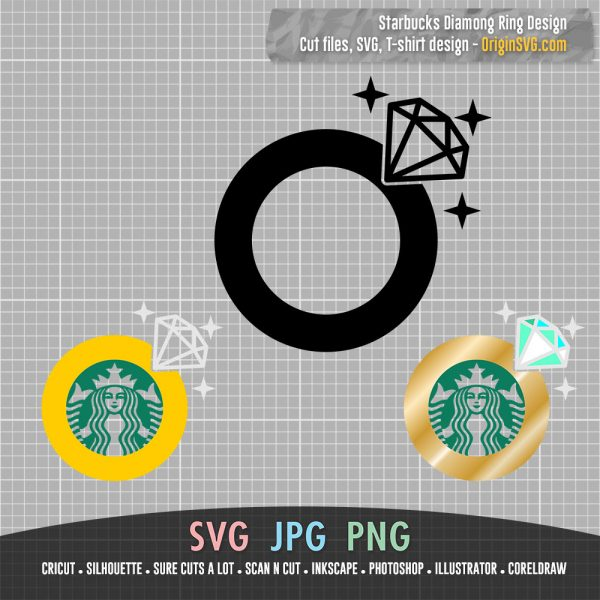 Starbucks diamond ring engagement ring