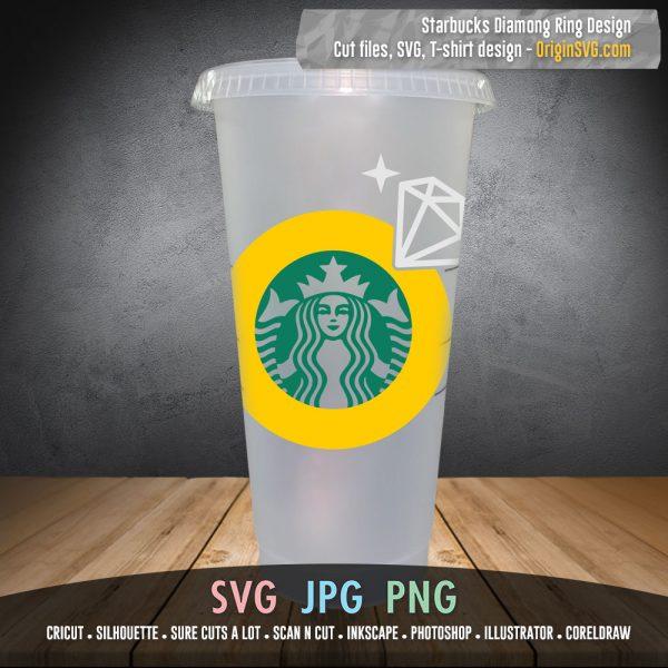 Starbucks diamond ring engagement ring