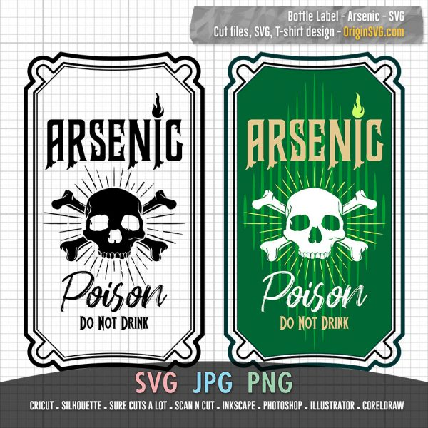 Bottle Label Arsenic Poison Do not Drink