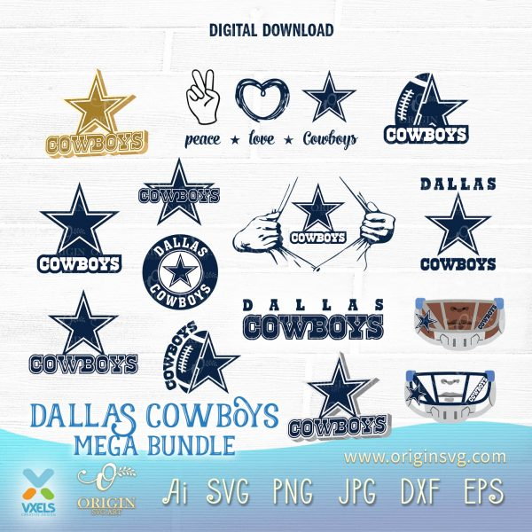 cowboys bundle svg