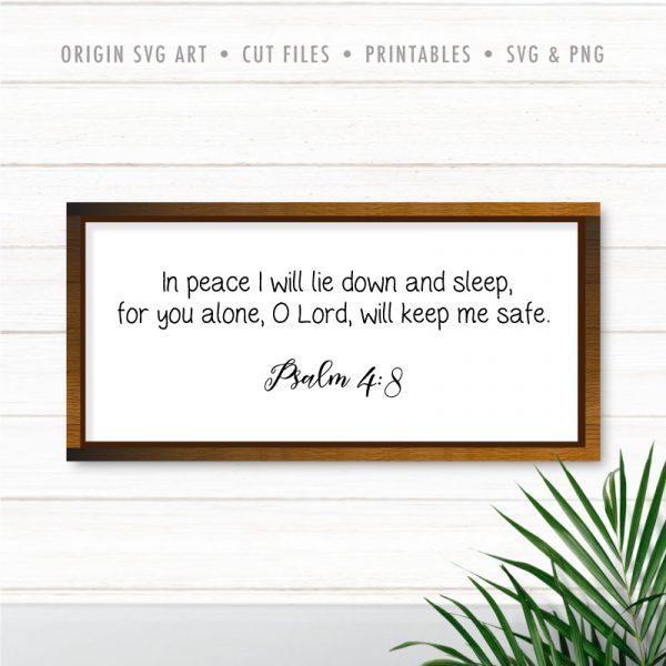 psalm 4:8 svg