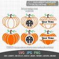 pumpkin SVG split letter monogram