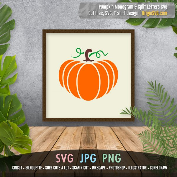 pumpkin SVG split letter monogram