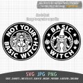 Basic Witch and Not Your Basic Witch Bundle Starbucks Logo Hocus Pocus