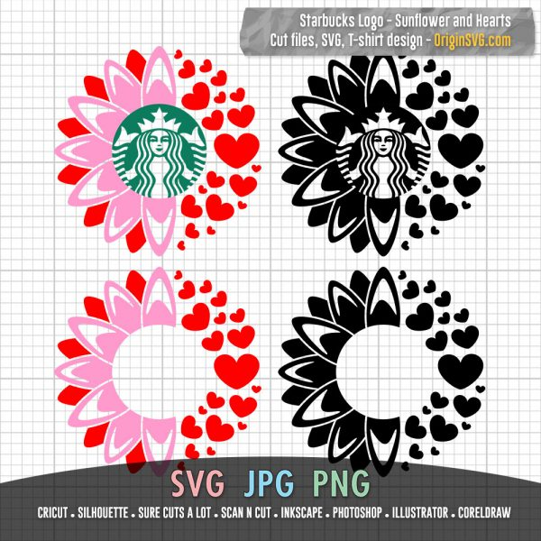 Starbucks Sunflower and Hearts