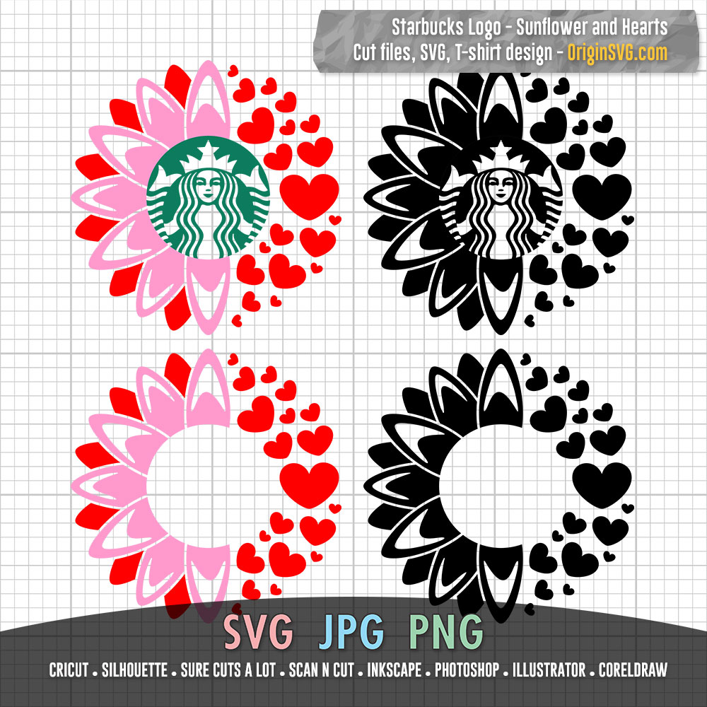 Download Starbucks Sunflower and Hearts for Starbucks Cup SVG Cut ...