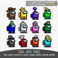 Among Us Characters Hat SVG