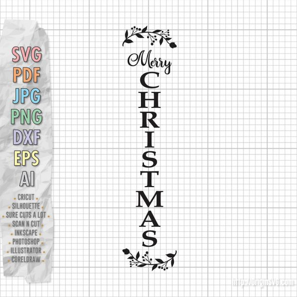 Merry Christmas Vertical Sign