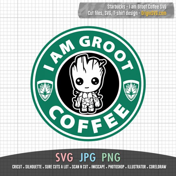 I Am Groot Coffee Starbucks Logo
