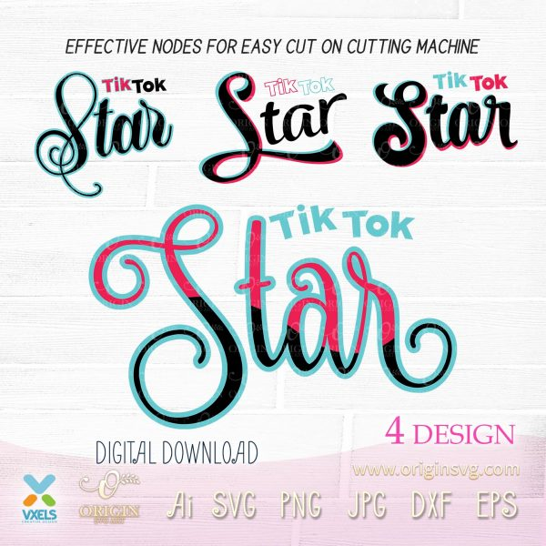 tik tok star svg