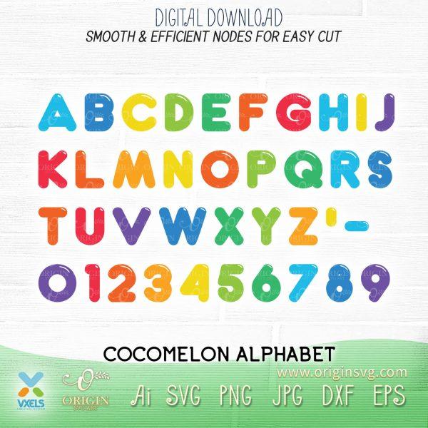 alphabet cocomelon fonts