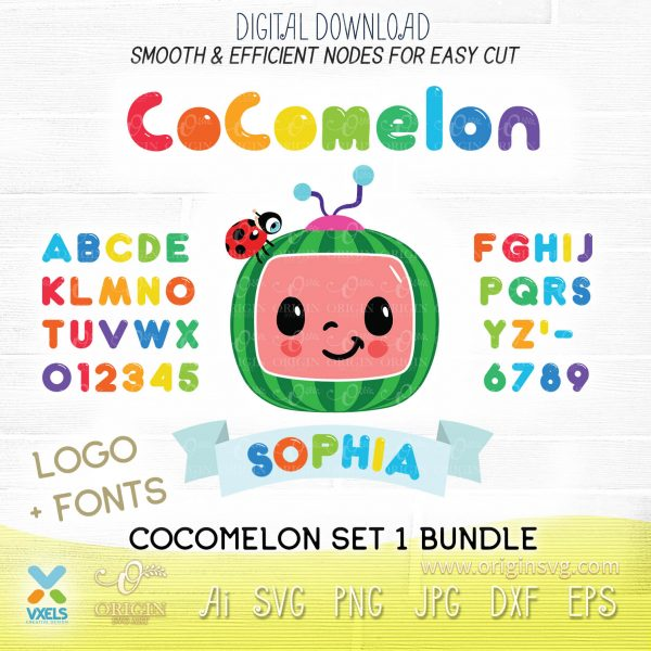 cocomelon alphabet svg