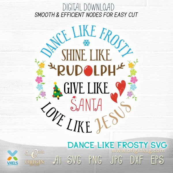 dance like frosty svg