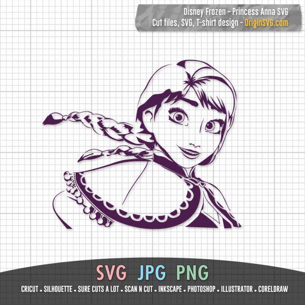 Princess Anna Disney Frozen SVG