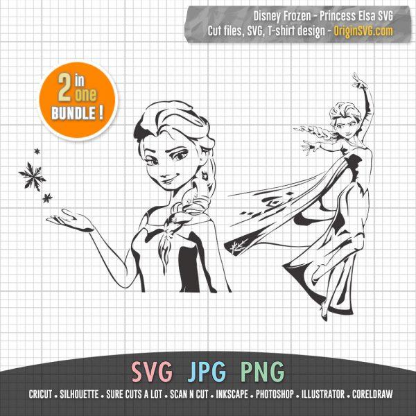 Princess Elsa Disney Frozen SVG