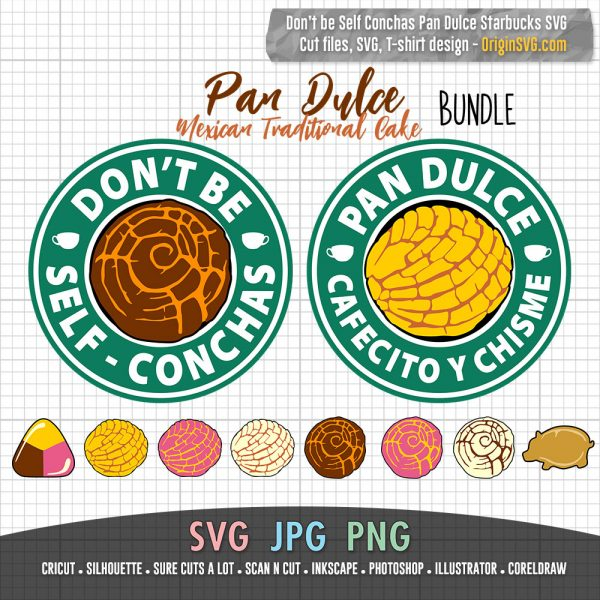 pan dulce starbucks SVG bundle