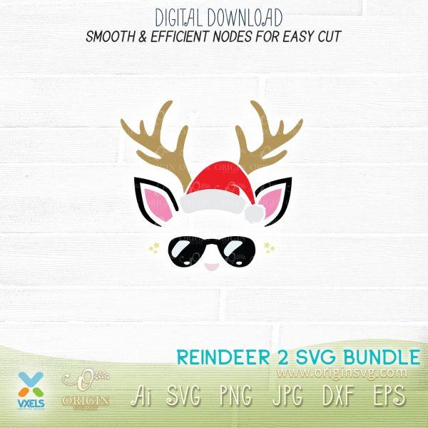 reindeer santa svg
