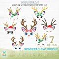 reindeer svg cut