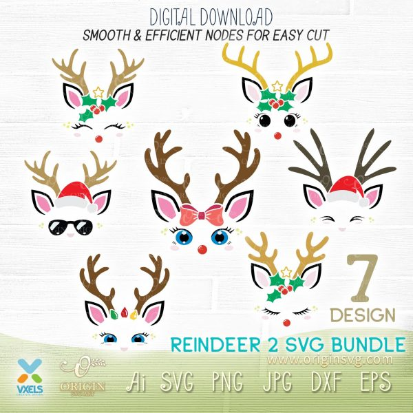 reindeer svg cut
