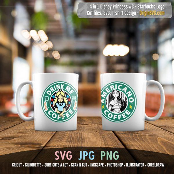 Starbucks Logo Disney Pricess set 3
