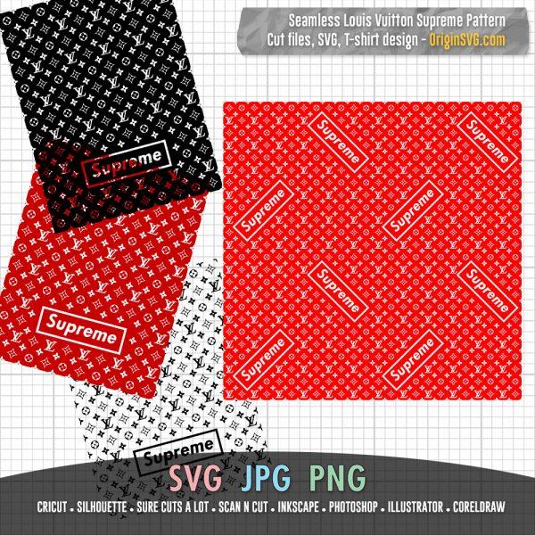 seamless LV pattern Supreme
