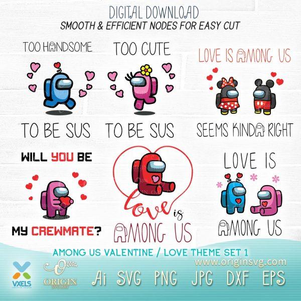 among us valentine day