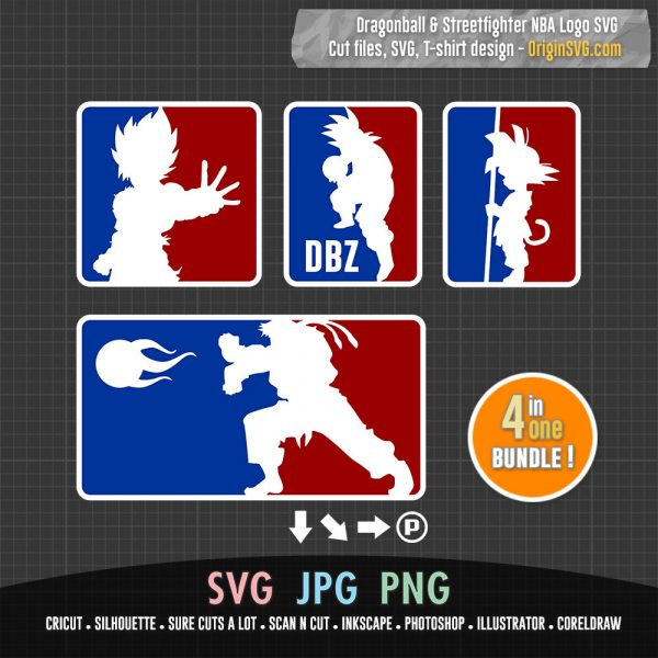 dragonball streetfighter NBA logo
