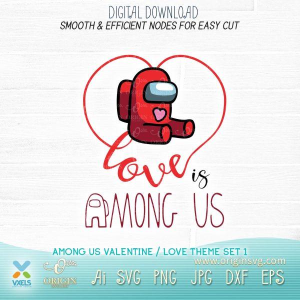 among us love svg