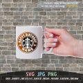 Happy Birthday Custom Name Starbucks Logo with Font