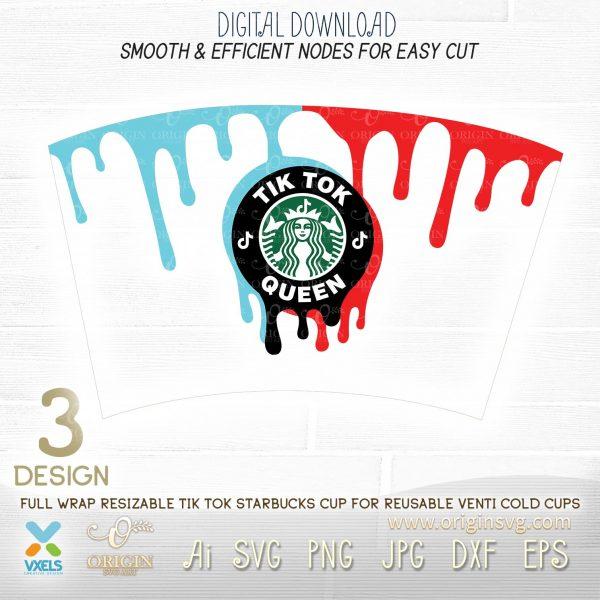 tiktok starbucks cup template