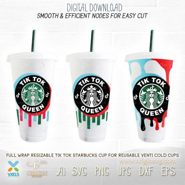 tiktok starbucks cup svg