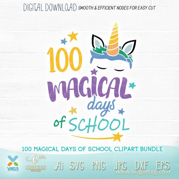 100 magical day of school unicorn