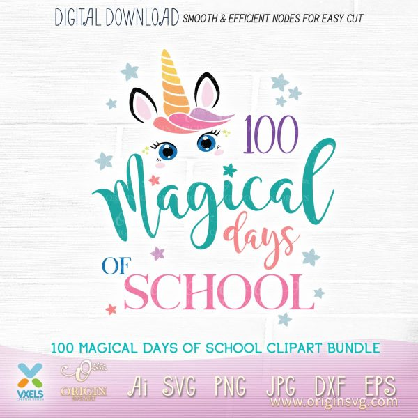 unicorn school svg