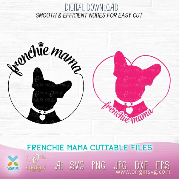frenchie mama cut file