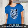 tiger face SVG