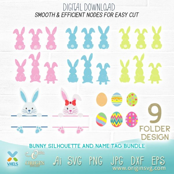 bunny svg easter