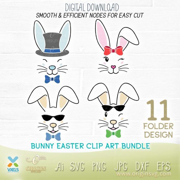 bunny easter svg cut